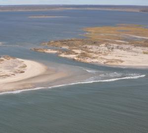 Aerial View of Island Breach on Fire Island 11/02/12