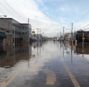 Flooding on Staten Island NY 11/01/12